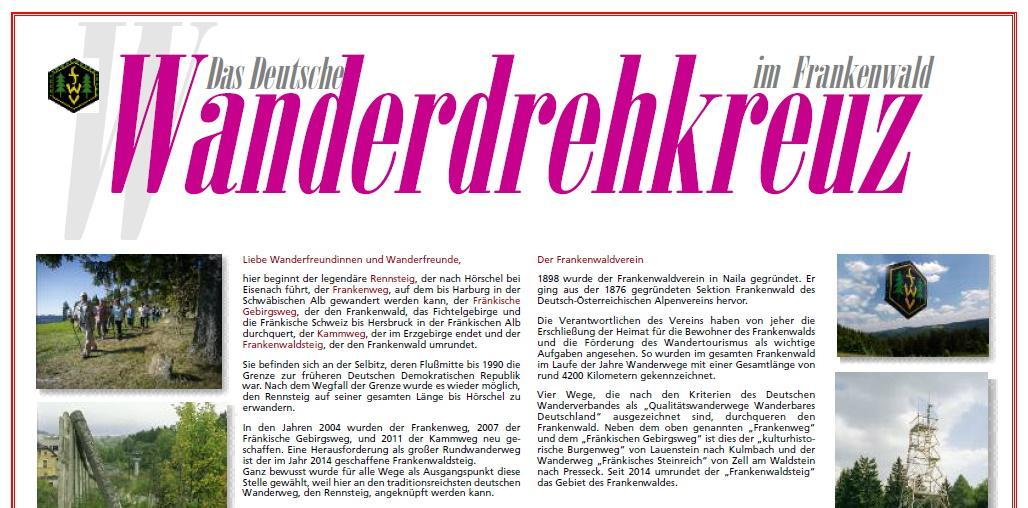 Deutsches Wanderdrehkreuz im Frankenwald