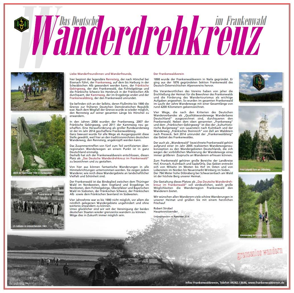 Wanderdrehkreuz Frankenwald