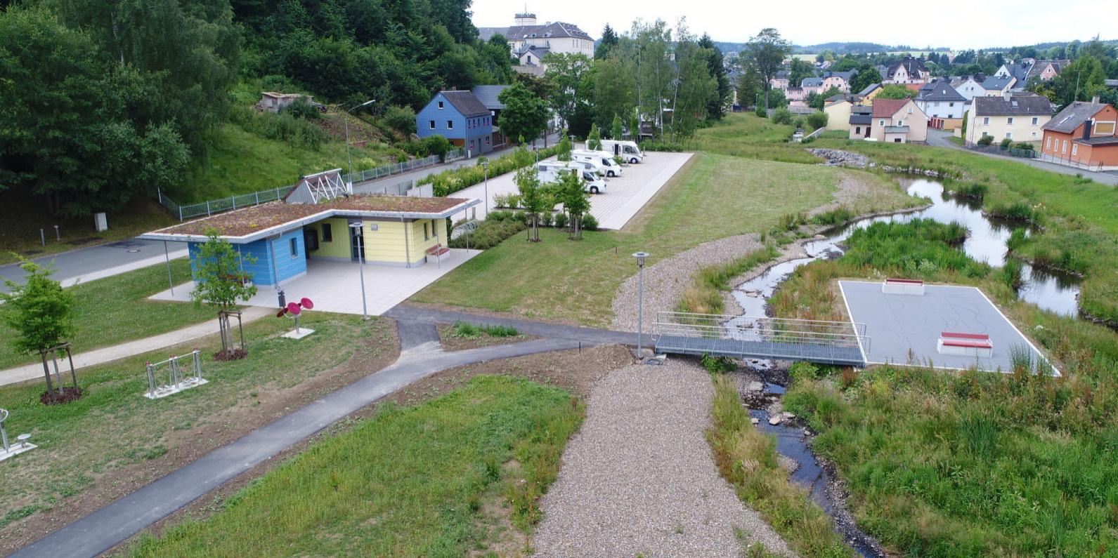 Summa-Park - Areal der Wohnmobilstellplätze